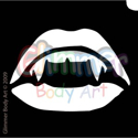 Picture of Vampire Kiss Stencil ( 1pc )