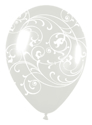 Picture of 11 Inch - Betallic Filigree Clear (50/bag)