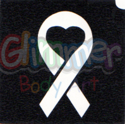 Picture of Ribbon Heart  Stencil - (1pc)