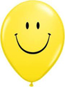 "Picture of 5"" Yellow Smile Face - Qualatex Balloon (100/bag)"