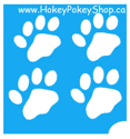 Picture of 4 Pawprints Stencil - 4 in 1 (ABA) - pack of 10