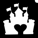 Picture of Castle Heart Stencil (5pc)