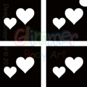 Picture of Mini Double Hearts Stencil (4 in 1) - (5pc pack)
