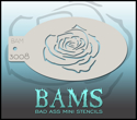 Picture of Bad Ass Mini Stencil - Rose - 3008