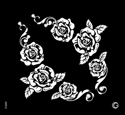 Picture of Essential - HD Stencil - Rose Bouquet - E12 (2pc/pk)
