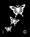Picture of Basic - HD Stencil - Cascading Butterflies - B02 (4pc/pk)