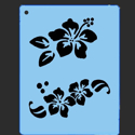 Picture of Hibiscus Flower Stencil - SOBA-14