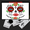 Picture of SUGAR SKULL TEA ROSE Stencil Eyes - SOBA - (8 YRS and UP)