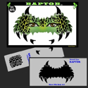 Picture of Raptor Stencil Eyes  - 65SE-C - (Child Size 4-7 YRS OLD)