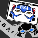 Picture of Cap USA Stencil Eyes - 09SE (Child Size 4-7 YRS OLD)