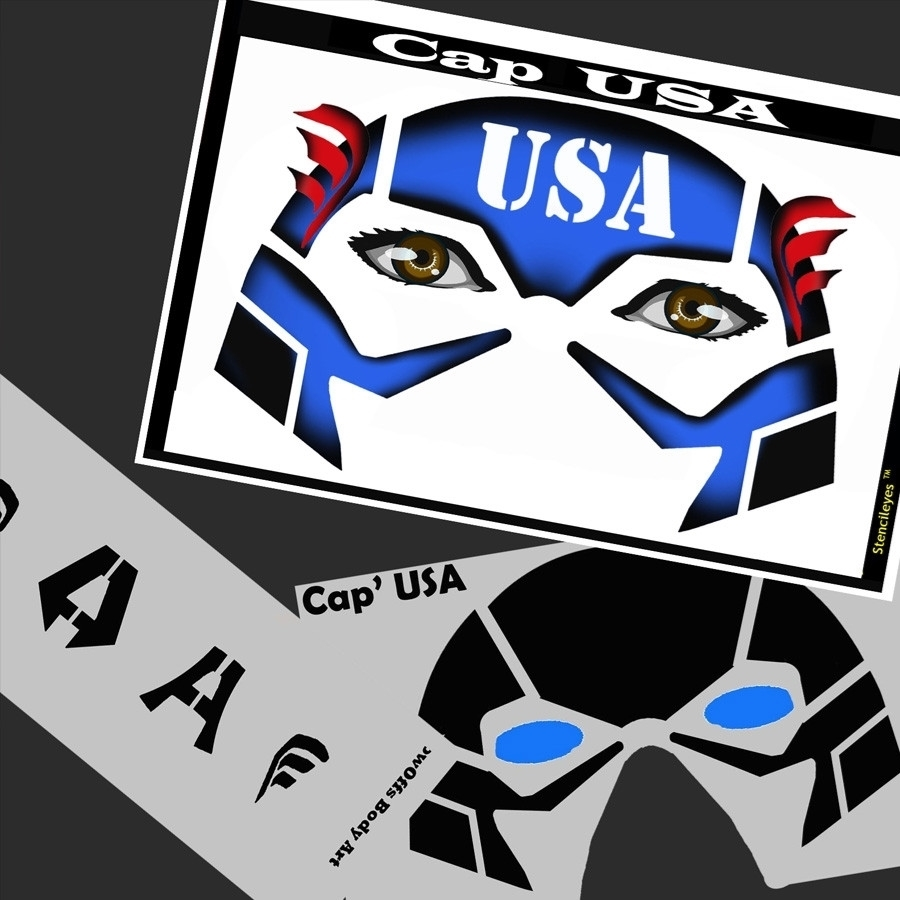 Cap Usa Stencil Eyes 09se 8 Yrs And Up Tag Body Art Canada
