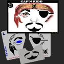 Picture of Cap'n Kidd Stencil Eyes - 10SE - (8 YRS and UP)