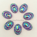 Picture of Big Peacock Gems - Purple - 13x18mm (7 pc.) (SG-BP1)