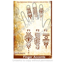 Picture of Henna Stencil 7 - Finger Accents F1, F2, F3 - SOBA