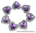 Picture of Double Heart Gems - Purple - 16mm (7 pc.) (SG-DHP)