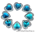 Picture of Double Heart Gems - Sky Blue - 16mm (7 pc.) (SG-DHB)
