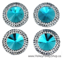 Picture of Double Round Gems - Blue - 20mm (4 pc.) (SG-DRB)