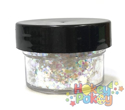 Picture of ABA Chunky Glitter - Holographic White Blend (15ml)