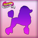 Picture of Pink Power Face Painting Stencil (1083) - Poodle