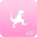 Picture of Pink Power Face Painting Stencil (1097) - Tyrannosaurus