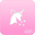 Picture of Pink Power Face Painting Stencil (1005) - Unicorn