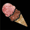 Picture of Ice Cream - Sparkle Stencil (1pc)