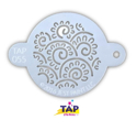 Picture of TAP 055 Face Painting Stencil - Henna Floral Swirls