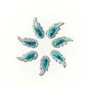 Picture of Crown Topper Gems - Blue - 21x9mm (7 pc.) (SG-CT)