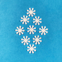 Picture of Pearl Snowflake Gems 1.5cm (9 pc.) (SG-PS)