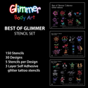 Picture of Best of Glimmer Stencil Set (150 pcs. )