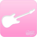 Picture of Pink Power Face Painting Stencil (1026) - Guitar