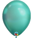 "Picture of 11"" Chrome GREEN round balloons - 100 count"
