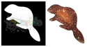 Picture of Beaver - Sparkle Stencil (1pc)