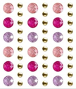 Picture of Peel-n-Stick Glitter Gems  12mm x18mm with 5mm Metal Studs -Pretty Pink (SE033D)