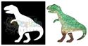 Picture of T-Rex - Sparkle Stencil (1pc)