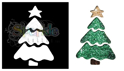Picture of Christmas Tree - Sparkle Stencil (1pc)