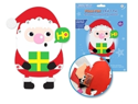 Picture of DIY Foam-Fun Craft Pal Kit Peel-n-Stick - Santa Present ( KX192 )