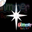Picture of Christmas Star / North Star Glitter Tattoo Stencil (1pc)