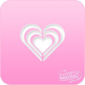 Picture of Pink Power Face Painting Stencil (1124) - Triple Hearts