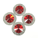 Picture of Double Round Gems - Red - 20mm (4 pc.) (SG-DRRL)