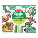 Picture of Melissa & Doug - Jumbo Coloring Pad - Animals (50 Pages)