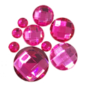 Picture of Round Gems - Hot Pink - 5 to 20mm (9 pc) (SG-RHP)