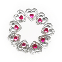 Picture of Double Heart Small Gems - Hot Pink - 12mm (9 pc.) (SG-DHSHP)