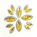 Picture of Double Pointed Eye Gems - Yellow - 6x14mm & 10x25mm (12 pc.) (AG-DPEY)