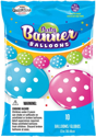 "Picture of 12"" Party Banner Balloons 10 Count - Big Polka Dots  (10/bag)"