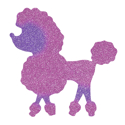 Picture of Poodle Glitter Tattoo Stencil - HP (5pc pack)