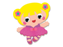 Picture of Krafty Kids Kit: DIY Foam Friends Craft Kit - Ballerina (CK192-Q)