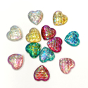 Picture of Mermaid Scale Heart Gem Assortment - 10mm (AG-MER2) (12pc)