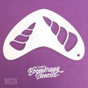 Picture of Art Factory Boomerang Stencil - Unicorn Horn (B029)