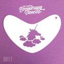 Picture of Art Factory Boomerang Stencil - Unicorn In Clouds (B017)